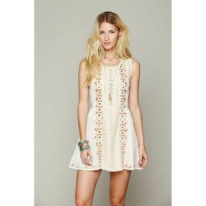 Free People Embroidered Water Lily Fit Flare Dress